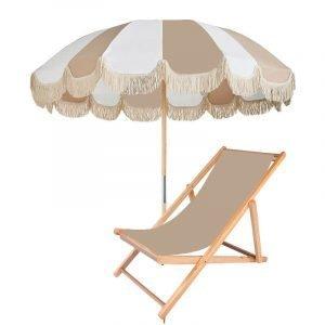 vintage patio umbrella with tassels