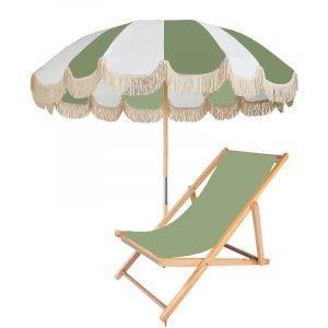 vintage patio table umbrella with wood pole