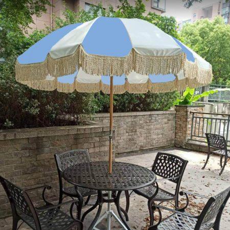 Best Retro outdoor garden umbrella with fringes for sale